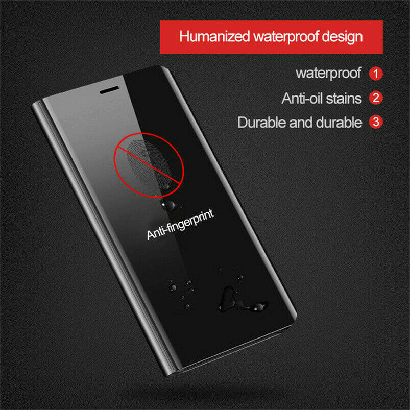 For Samsung Galaxy S9/S8 S10 Plus Note 8/9 Smart Mirror View Flip Case Stand Cov 3