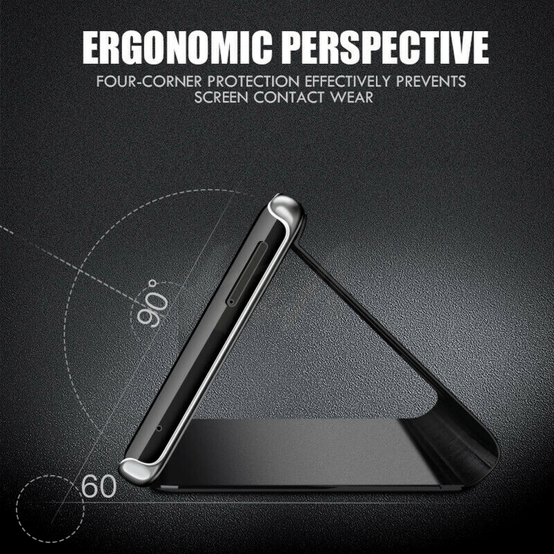 For Samsung Galaxy S9/S8 S10 Plus Note 8/9 Smart Mirror View Flip Case Stand Cov 4