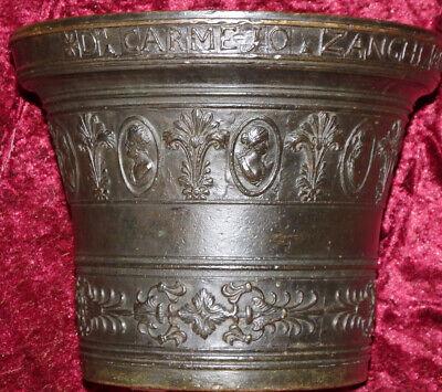Italien Bronze Mörser Apotheke Postament Sizilien Catania Zanghi 1520 / 1820 7