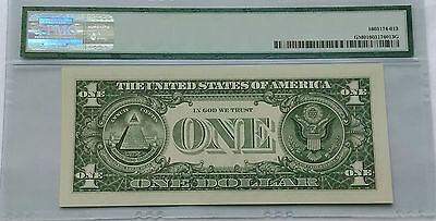 2013 $1 FEDERAL RESERVE NOTE FROM THE 2014 COIN /& CURRENCY SET   PMG 65
