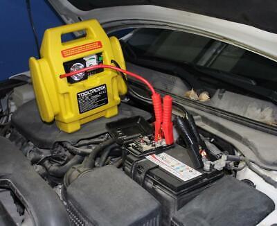 ToolTronix 4-In-1 Car Jump Starter Battery Booster Air Compressor Light Power 6