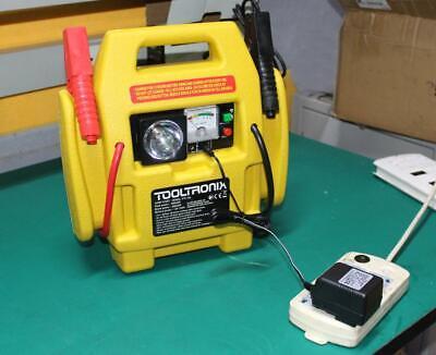 ToolTronix 4-In-1 Car Jump Starter Battery Booster Air Compressor Light Power 5