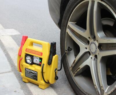 ToolTronix 4-In-1 Car Jump Starter Battery Booster Air Compressor Light Power 3