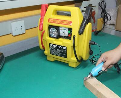 ToolTronix 4-In-1 Car Jump Starter Battery Booster Air Compressor Light Power 4