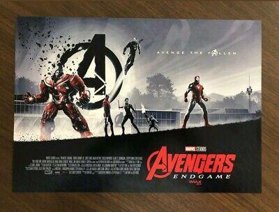 "AVENGERS ENDGAME AMC IMAX EXCLUSIVE POSTER 11"" x 15.5"" Week 1 & 2 Poster Set 2"