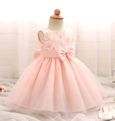 64d9f6823a ... Vestito Bambina Abito Battesimo Cerimonia Girl Party 0-24 Princess  Dress DG0050 5
