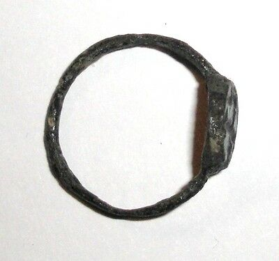 Ancient Byzantine Empire, 8th - 10th c. AD. Bronze Intaglio Signet Ring