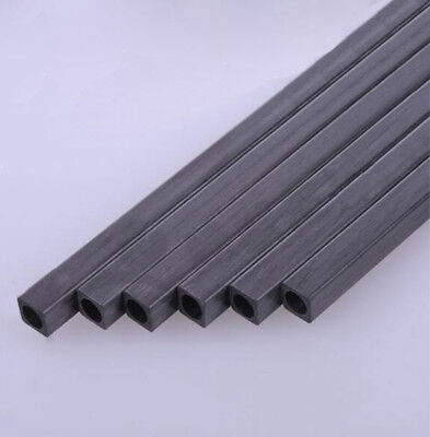 Carbon Fiber Square Tube & Sheet 1.7mm 2mm 3mm 4mm 5mm OD 200mm Or 400mm Length 2