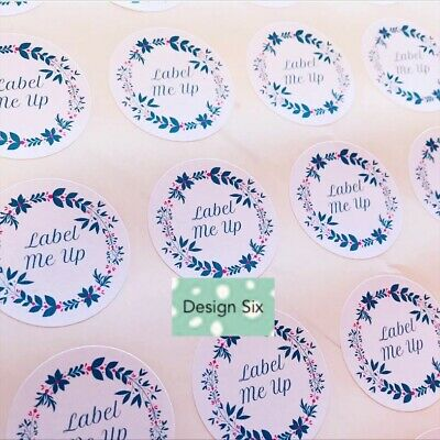 Personalised Business Stickers Thank You Seals Logo Labels Address Wax Melt