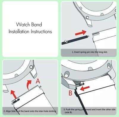✅ Für AMAZFIT Smartwatch Bip Lite GTS / GTR Armband 20mm 22mm Nylon Loop ✅ 9