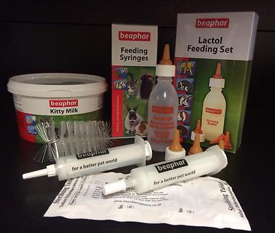 Beaphar Lactol Kitty Milk Formula Cat Kitten Bottle 2 Feeding Syringes ID Bands