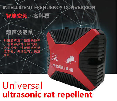 High-Tech 12V Dual Ultrasonic Engine Wire Protection Mouse Chaser Rats Repeller 3