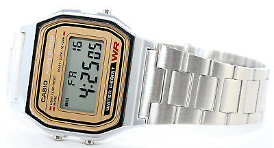Casio Classic Digital Stainless Steel Alarm Stopwatch Casual Watch A158WEA-9 New 7