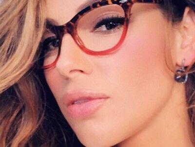 "Cat Eye  ""Ombre"" Women Eyeglasses Tortoise Pink or Aqua Two Tone Gradient Shadz"