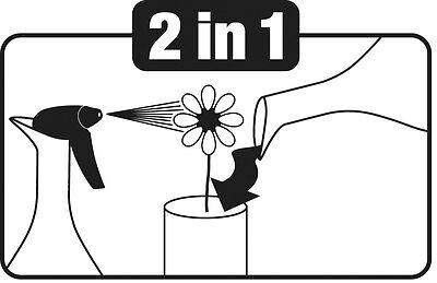 Gloria Zerstäuber Sprühflasche Blumensprüher  Feinsprüher 0,8L black /& white