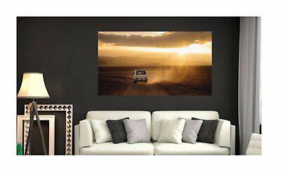 Wandbild VW T3 Fototapete Poster Abenteuer Reisen Wüste Fotokunst Grob wa395LI