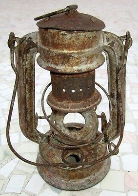 "Antique Made In Germany Feuerhand ""superbaby"" Rail Road Lantern, Excellent 7"