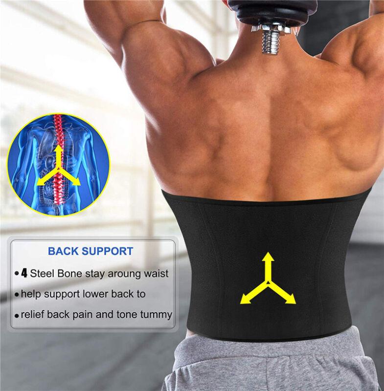 Men Weight Loss Waist Trainer Slimming Sauna Neoprene Slimming Body Shaper HOT 3