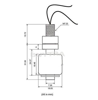New Hot Sale Small Liquid Water Level Sensor Horizontal Float Switch HC 2