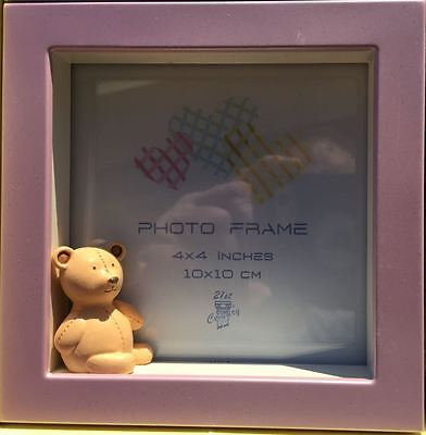 """Baby Picture Frame Collage 4 Spinning Frames 2-4""""x4"""" 2-4""""x6"""" White And Pink"""