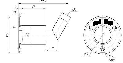 24mm Passascafo gas di scarico per i riscaldatori di barche Webasto Eberspacher 2