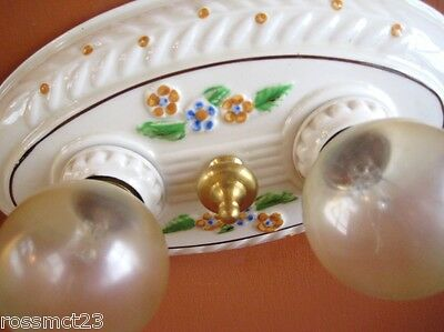 Vintage Lighting antique 1930s Porcelier porcelain light   Bath Kitchen Bedroom 2