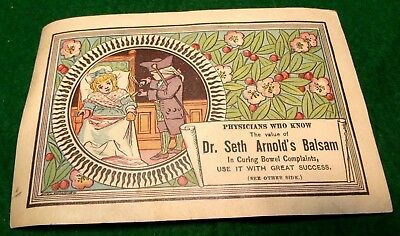 Dr. Seth Arnold's Balsam Curing Bowel Complaints Victorian Trade Card Y6