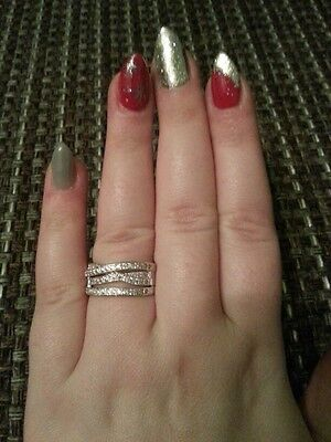 bfe9169ff ... Genuine Sterling Silver 925 Entwining Entwined Russian Wedding Ring Size  56 Sale 3