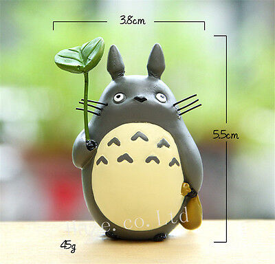 3pcs/Set Anime My Neighbor Totoro Resin Mini Figures Cosplay Model Doll 6