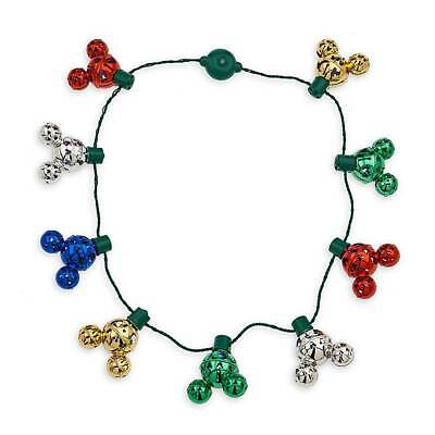 Disney Parks Mickey Mouse Icon Christmas Jingle Bell Light-Up Necklace New w Tag 3