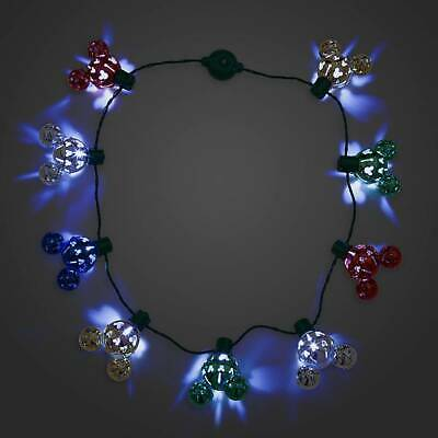 Disney Parks Mickey Mouse Icon Christmas Jingle Bell Light-Up Necklace New w Tag 2