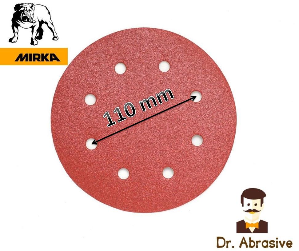"""180mm 7"""" Sanding Discs MIRKA Hook & Loop FIT WORKZONE ALDI Models 750W 710W 850W 4"""