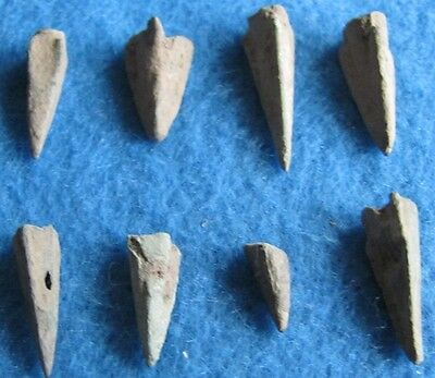 Fantastic RARE Lot of ( 8) Bronze arrows 3rd  to 1st Cent. B.C.