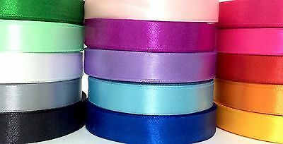 Satin ribbon 16mm wide, by the meter, party and wedding decoration, 15 colours