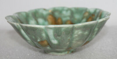 "A RARE and Superb 5.2"" Rare Seen Chinese Tang Sancai Glazed Scallop Bowl 2"