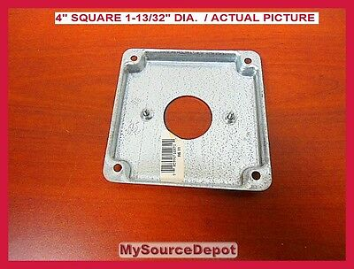 """Thomas & Betts, Rs-11, 4"""" Square Cover, 1-13/32 Dia. Single Receptacle Cover 2"""