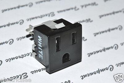 1pcs-EAGLE (Cooper Wiring) 49-7BK-BU 15A-125V Outlet - Snap in Receptacle 2
