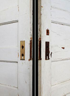 "27""x84"" Antique Vintage Interior Solid Wood Wooden Door 6 Ladder Stacked Panels"