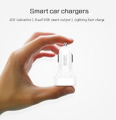 chargeur tel voiture smartphone usb allume cigare double cable iphone samsung .. 2