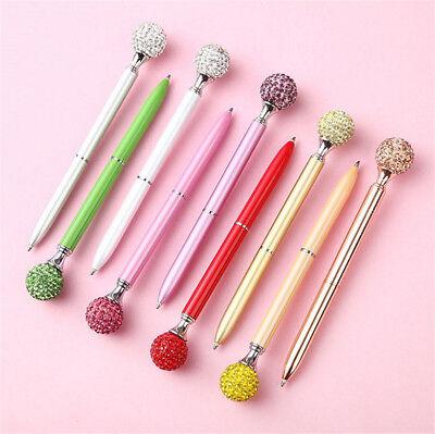 1X Metal Diamond Head Crystal Ballpoint Pen Creative Pen Stationery Gift Fashion 2