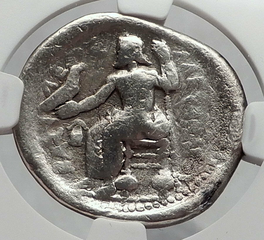 ALEXANDER III the GREAT 311BC Silver Tetradrachm Ancient Greek Coin NGC i60188 2