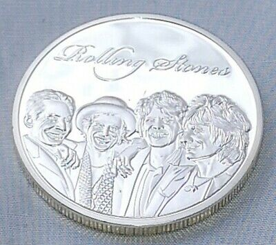 Rolling Stones Silver Coin Rock n Roll Pop Music Band Songs Rockers 60s Retro UK 3