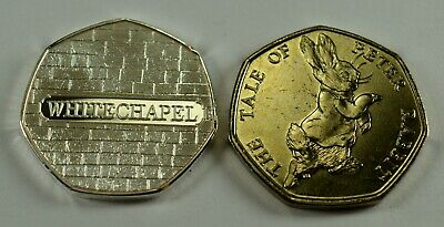 9edda1a76e67de ... Pair JACK THE RIPPER Silver   24ct Gold Commemorative Coin Albums 50p  Collectors 8