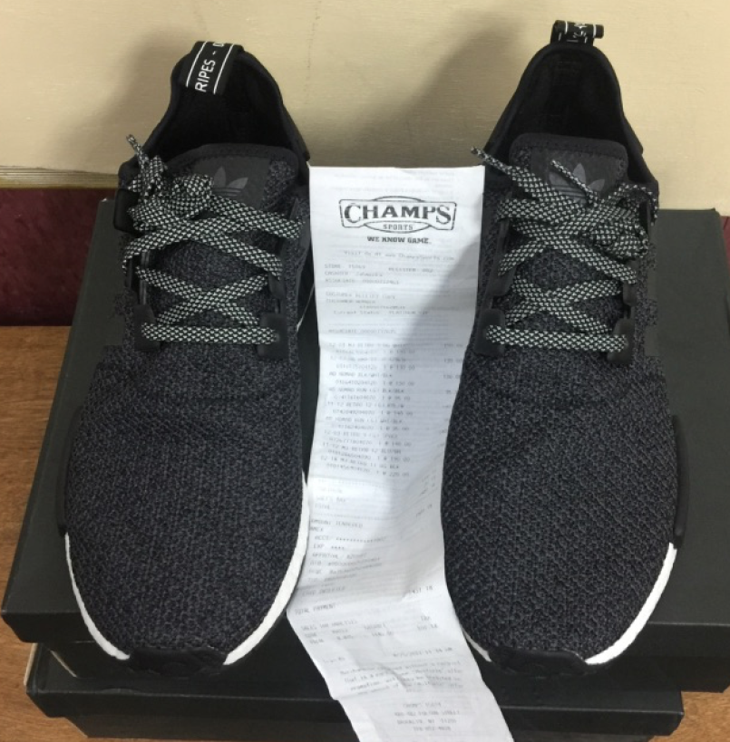 2571a2a0c Adidas NMD R1 3M Black Grey Champs Exclusive B39505 Size 9.5~12 AUTHENTIC 2  2 of 8 ...