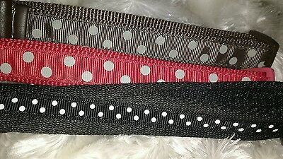 Ancol Quick Release Indulgence polka Dot Spot Dog Collar Brown Red Black LEAD 2