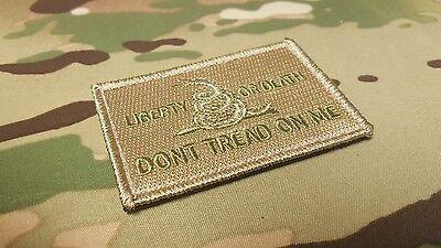 IR Multicam Gadsden Snake 2x2 America DTOM Dont Tread On Me ArmyTactical Morale Fastener Patch