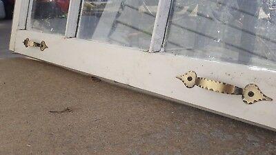 Architectural Salvage ~ 6 PANE OLD WINDOW SASH FRAME PINTEREST with HARDWARE 3