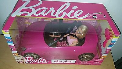Barbie Pink Auto Glam Convertible Car & Doll V6744 Toy Gift Mattel *Brand New* 6