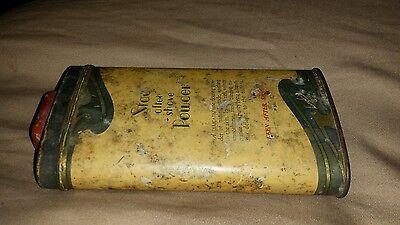 Vintage Langlois Stag After Shave Powder For Men/ Tin Can 2 7/8 Oz./ Half Full 8