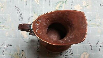 "Vintage Hammered Copper Pitcher 6"" Arts & Crafts 3"